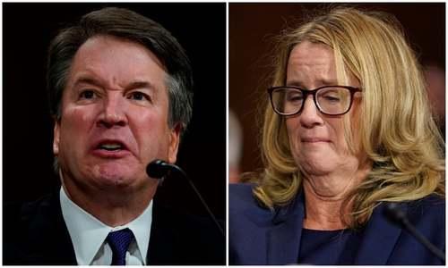 Trump's fiery SC nominee Kavanaugh denies quiet accuser Ford in Senate showdown
