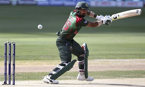 Bangladesh's Liton Das plays a shot during the Asia Cup match between India and Bangladesh. — AP