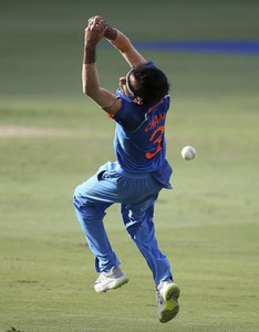 Yuzvendra Chahal drops a catch after a shot played by Bangladesh's Liton Das — AP
