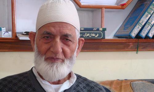 Kashmiri leader Gilani distances himself from social media campaign against Dawn