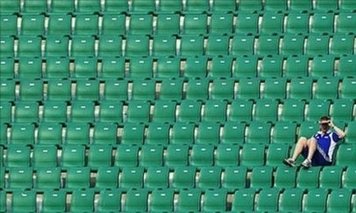 Empty stands made for a horrible sight during the Asia Cup. — AFP