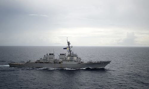 China, US in row over warship's movement