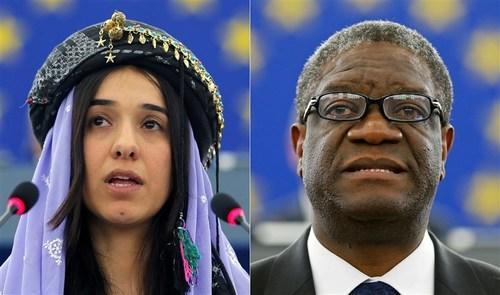 DR Congo's Dr Mukwege and Yazidi campaigner Nadia Murad win Nobel Peace Prize