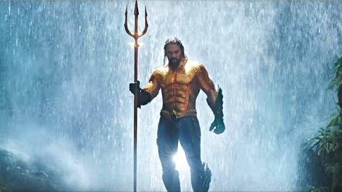 Jason Momoa wears the classic orange suit in Aquaman trailer