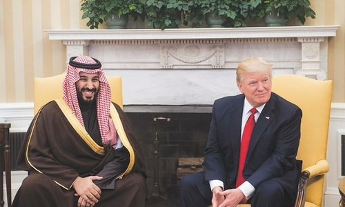 Saudi crown prince says he 'loves' working with Trump