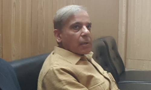 Sharifs pay Shahbaz visit at NAB office in Lahore