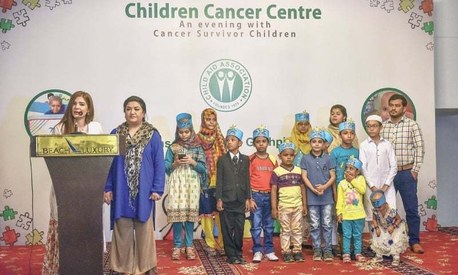 Ayesha Omar and Hina Dilpazeer meet with young cancer survivors