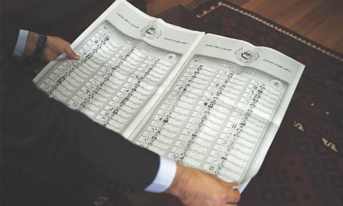 Kabul voters wrestle with newspaper-sized ballot paper