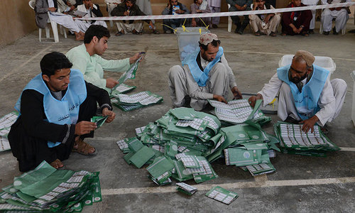 Security personnel told to stay away from counting process