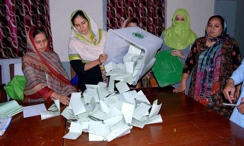 ضمنی انتخابات کے غیر حتمی اور غیر سرکاری نتائج