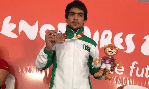 یوتھ اولمپک گیمز: پاکستانی ریسلر نے تمغہ جیت کر تاریخ رقم کردی