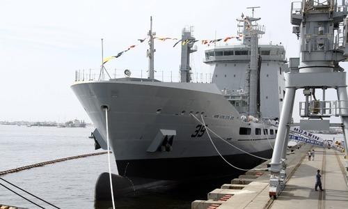 پاک بحریہ میں17 ہزار ٹن  فلیٹ ٹینکر پی این ایس معاون کی شمولیت