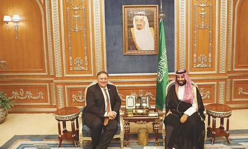 Pompeo raises Khashoggi case with Saudi king; Turks study 'toxic materials'