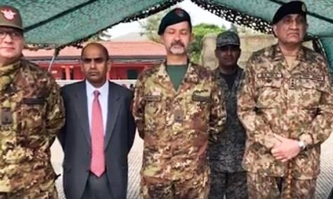 Gen Bajwa meets Italy's defence minister