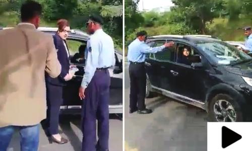 پولیس اہلکاروں کو دھمکیاں دینا خاتون کو مہنگا پڑگیا
