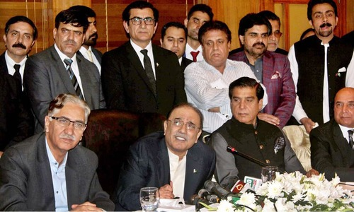 All parties should unite to present motion against PTI govt's incompetence, says Zardari