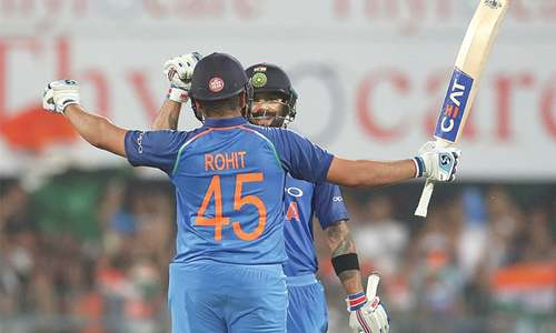 Kohli, Sharma blast tons to flatten West Indies