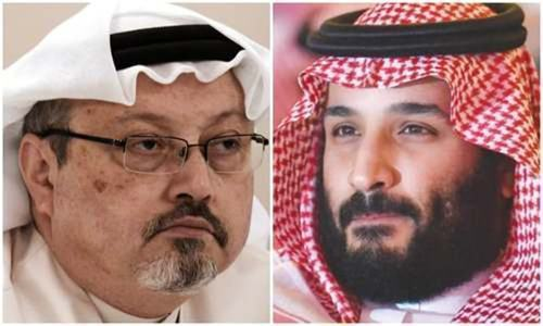 King Salman, MBS call slain writer Khashoggi's son