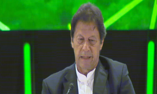 PM Khan addresses investment conference in Riyadh