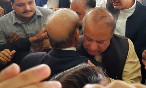 Nawaz, Shahbaz meet in Parliament House; decide PML-N will attend APC