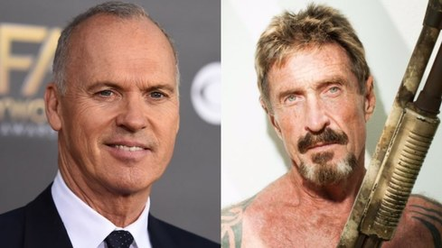 Michael Keaton will play rogue tech millionaire John McAfee in King of the Jungle