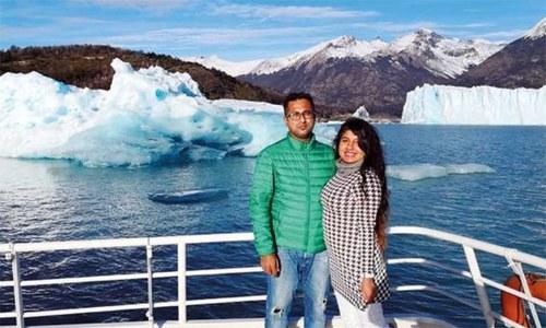 بلاگر ماریہ ڈی کوسٹا کی ان کے شوہر کے ہمراہ تصویر— تصویر بشکریہ انسٹا گرام