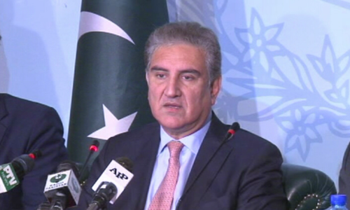 Foreign minister addresses a presser on China visit. — DawnNewsTV