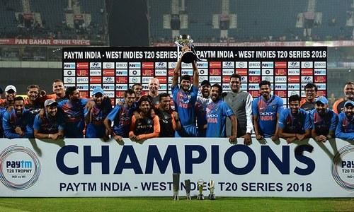 بھارت نے ٹی ٹوئنٹی سیریز میں ویسٹ انڈیز کو وائٹ واش کردیا