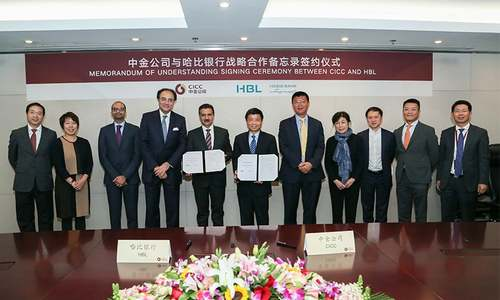 HBL signs agreement with leading Chinese investment bank