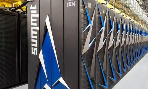 340 ٹن وزنی 6 ہزار ایکڑ رقبے پھر پھیلا دنیا کا تیز ترین سپر کمپیوٹر