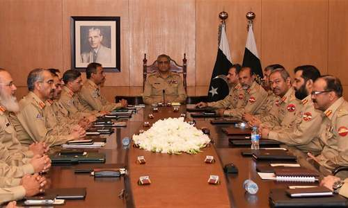 Top military brass reiterates support for institutions to ensure 'writ of the state'