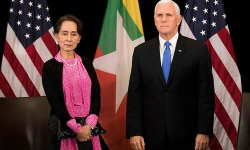 Pence says Myanmar's handling of Rohingya 'without excuse'