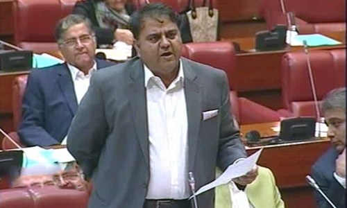 Information Minister Fawad Chaudhry barred from Senate session