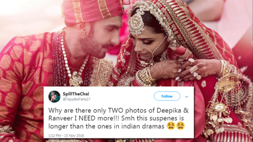 Deepika and Ranveer release only two wedding photos and fans want more