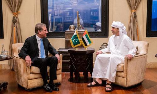وزیر خارجہ کی اماراتی ہم منصب سے ملاقات، باہمی دلچسپی کے امور پر تبادلہ