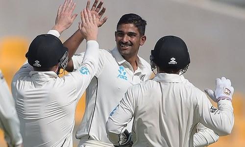 نیوزی لینڈ کی میچ میں شاندار واپسی، پاکستان کا بھاری برتری کا خواب چکنا چور