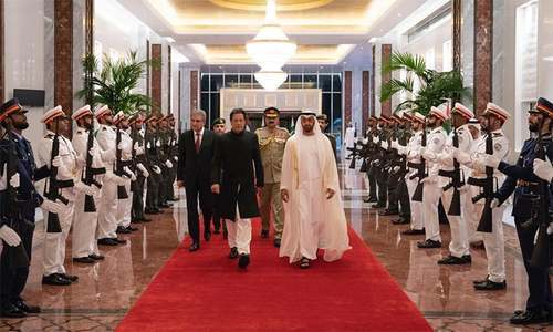 PM Khan in Abu Dhabi on one-day trip amid reports of UAE package