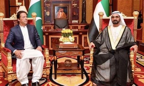 یو اے ای  کے وزیراعظم کی جانب سے عمران خان کو اردو میں خوش آمدید