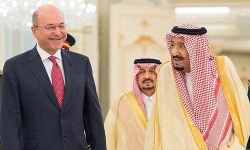 Iraq's new president meets Saudi king after visiting Iran