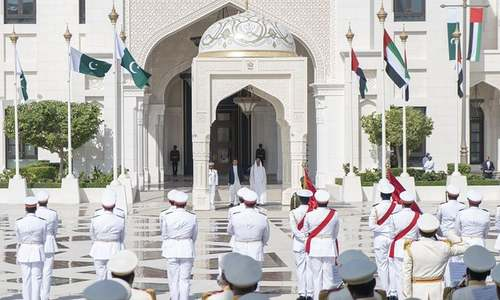 All things 'grand': PM Khan's one-day visit to the UAE in pictures