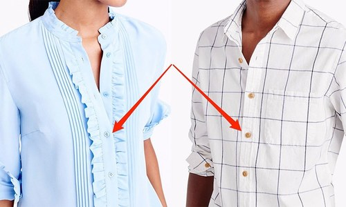 خواتین کی شرٹس میں بٹن بائیں جانب کیوں ہوتے ہیں؟