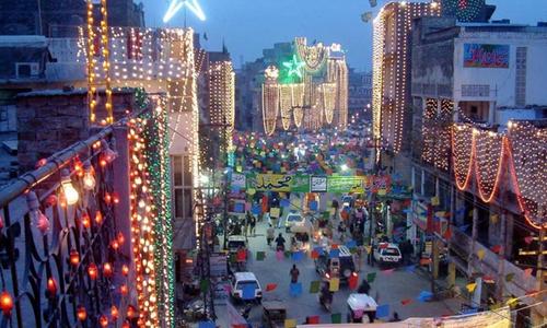 ملک بھر میں جشن عیدمیلادالنبیﷺ مذہبی عقیدت و احترام کے ساتھ منایا جارہا ہے