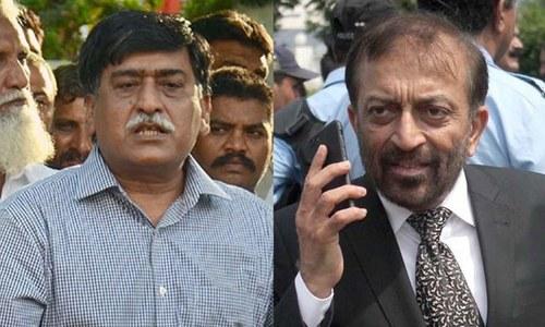 کراچی: فاروق ستار اور آفاق احمد کی ملاقات