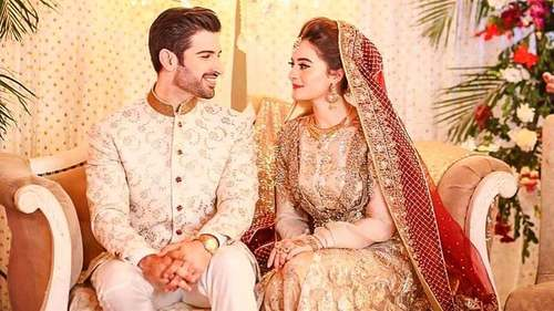 Actors Aiman Khan and Muneeb Butt tie the knot