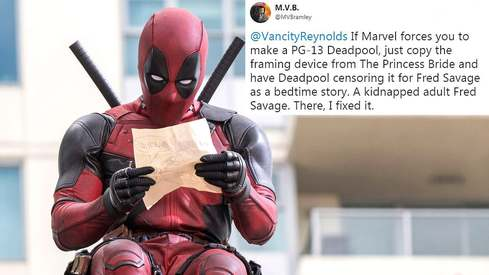 This artist gave Ryan Reynolds the idea for PG13 Deadpool a year ago on Twitter