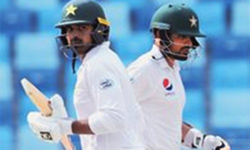 Haris, Babar strike centuries to help Pakistan post big total