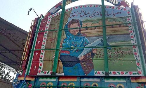 Moving billboards — advocating for girls' education through truck art