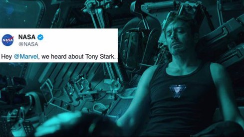 NASA responds to Marvel fans' plea to save Tony Stark