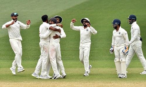 ٹیل اینڈرز کی مزاحمت بھی آسٹریلیا کو نہ بچا سکی، بھارت کامیاب
