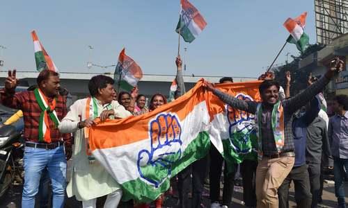 بھارت: ریاستی انتخابات میں کانگریس کی فتح پر جشن